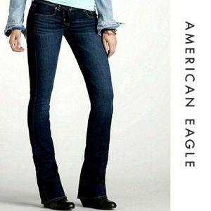 American Eagle stretch slim boot jeans size 10 EUC